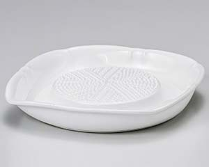 【まとめ買い10個セット品】和食器 ロ417-226 白オロシ器(中)(ノンスリップ加工) 【キャンセル/返品不可】