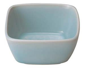 【まとめ買い10個セット品】和食器 イ455-307 青白磁唐草 4.5角鉢【キャンセル/返品不可】