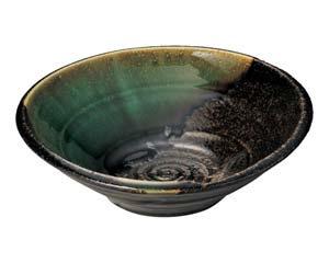 【まとめ買い10個セット品】和食器 タ464-026 23cm富士型鉢 【キャンセル/返品不可】