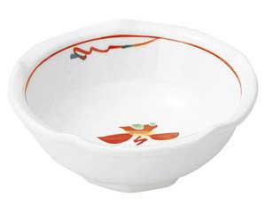 【まとめ買い10個セット品】和食器 ホ478-057 赤絵花紋 梅型とんすい【キャンセル/返品不可】