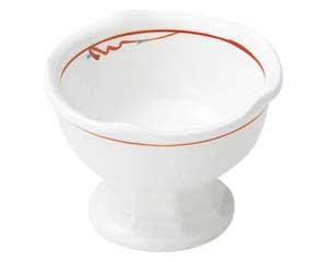 【まとめ買い10個セット品】和食器 ホ478-077 赤絵花紋 梅型高台小鉢(小)【キャンセル/返品不可】
