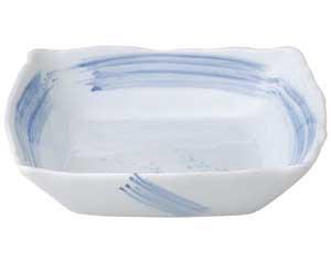 【まとめ買い10個セット品】和食器 ア179-047 青空角大鉢【キャンセル/返品不可】
