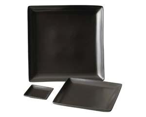 【まとめ買い10個セット品】和食器 ホ510-486 スタイルI黒24cm角皿 【キャンセル/返品不可】