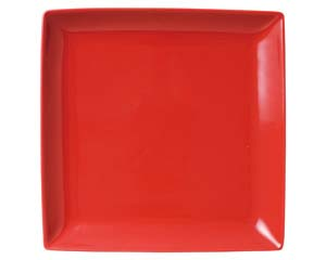 【まとめ買い10個セット品】和食器 ホ512-136 スタイルI赤22cm角皿 【キャンセル/返品不可】