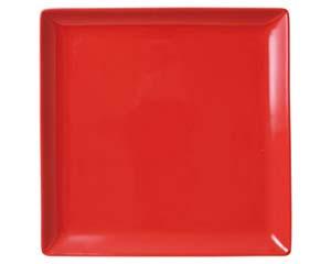 【まとめ買い10個セット品】和食器 ホ512-146 スタイルI赤24cm角皿 【キャンセル/返品不可】