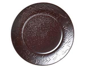 【まとめ買い10個セット品】和食器 キ535-076 紅彩21cmプレート 【キャンセル/返品不可】