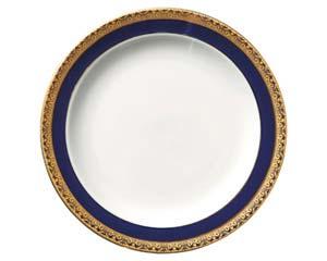 【まとめ買い10個セット品】和食器 ホ538-136 ディープブルーゴールド9吋皿 【キャンセル/返品不可】