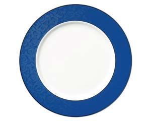 【まとめ買い10個セット品】和食器 ホ538-326 ブルーローズ透かし12吋皿 【キャンセル/返品不可】