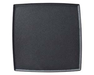 【まとめ買い10個セット品】カ537-167 フィノブラック 25.5cm スクエアープレート【キャンセル/返品不可】