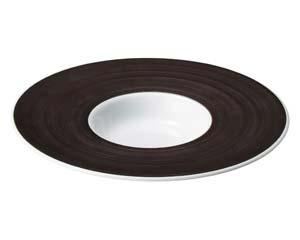 【まとめ買い10個セット品】ネ549-067 グラシアブラウン&ブラック グラシアブラウン24cm平型スープ【キャンセル/返品不可】