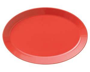 【まとめ買い10個セット品】和食器 ハ577-376 プラターL(RD) 【キャンセル/返品不可】