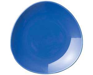 【まとめ買い10個セット品】ト589-087 トライアングル ブルー9吋皿【キャンセル/返品不可】
