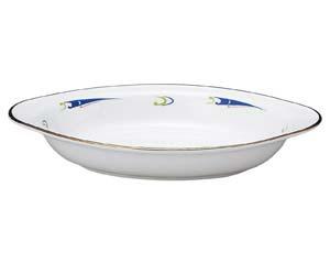 【まとめ買い10個セット品】ヤ580-757 ブルーウェーブ グラタン皿【キャンセル/返品不可】