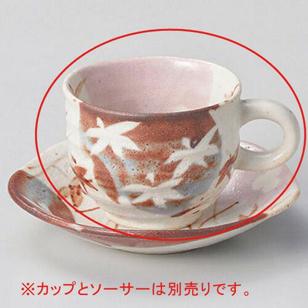 【まとめ買い10個セット品】ト602-207 コーヒー紅志野紅葉碗【キャンセル/返品不可】