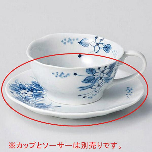 【まとめ買い10個セット品】和食器 オ606-196 手描小花ティーカップと受皿 【キャンセル/返品不可】
