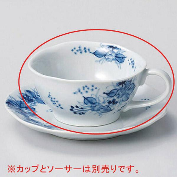 【まとめ買い10個セット品】和食器 オ606-246 手描小手鞠ティーカップのみ 【キャンセル/返品不可】