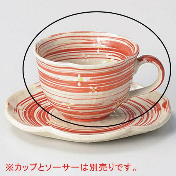 【まとめ買い10個セット品】ロ603-037 流水小花(赤)コーヒー碗【キャンセル/返品不可】