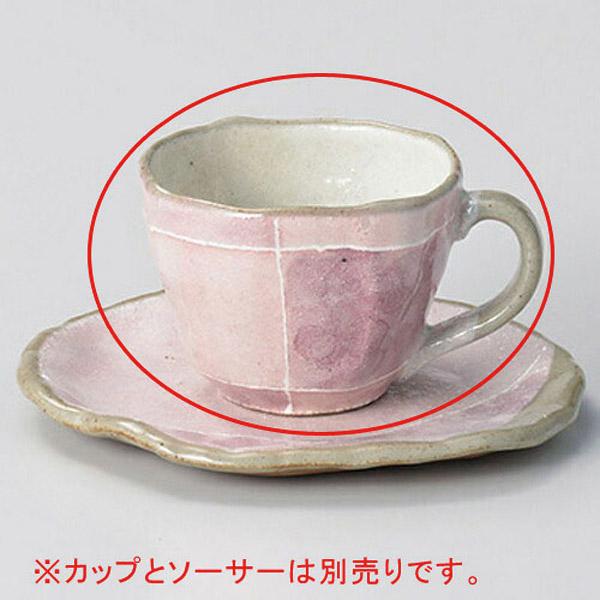 【まとめ買い10個セット品】カ603-157 ピンク色十草タタラコーヒー碗【キャンセル/返品不可】