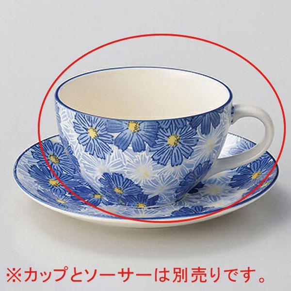 【まとめ買い10個セット品】イ606-317 華々ブルーコーヒー碗【キャンセル/返品不可】