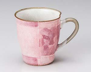 【まとめ買い10個セット品】和食器 カ616-256 ピンク色十草マグ 【キャンセル/返品不可】