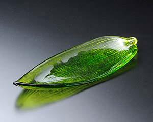 【まとめ買い10個セット品】和食器 ハ632-176 笹の葉中皿(ガラス) 【キャンセル/返品不可】