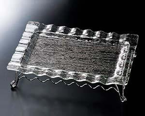 和食器 ヌ725-126 さざ波ウェーブ長角盛皿59cm用スタンド