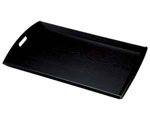 【まとめ買い10個セット品】和食器 ワA730-186 新型脇取盆 (大) 黒 【キャンセル/返品不可】