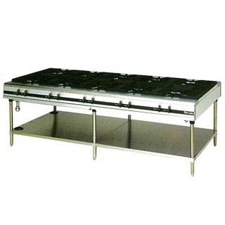 マルゼン パワークックガステーブル MGTX-2412E 2400×1200×800【 メーカー直送/後払い決済不可 】
