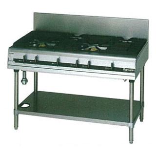 マルゼン パワークックガステーブル MGTXS-126E 1200×600×800【 メーカー直送/後払い決済不可 】