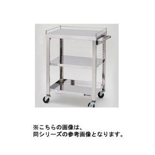 東製作所 ステンレス製ワゴン 750×450×800 3段(中棚1枚)【 メーカー直送/後払い決済不可 】