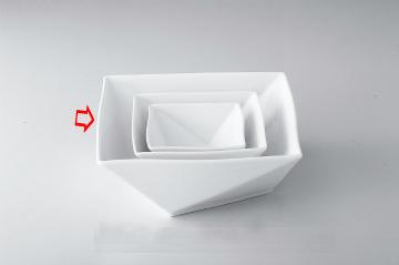【まとめ買い10個セット品】和食器 折紙 21cm角鉢 36A398-02 まごころ第36集 【キャンセル/返品不可】