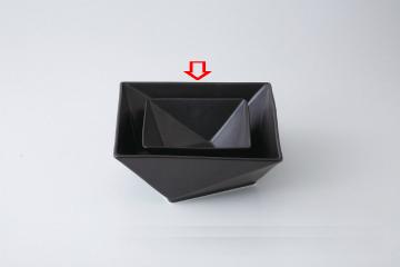 【まとめ買い10個セット品】和食器 折紙(黒) 21cm角鉢 36A398-05 まごころ第36集 【キャンセル/返品不可】