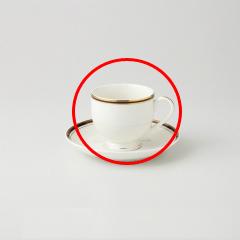 【まとめ買い10個セット品】和食器 アポロ(チャイナボーン) 高台コーヒーC/S 36A466-16 まごころ第36集 【キャンセル/返品不可】