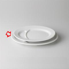 【まとめ買い10個セット品】和食器 白玉渕 10吋ギョーザ皿 36A493-54 まごころ第36集 【キャンセル/返品不可】