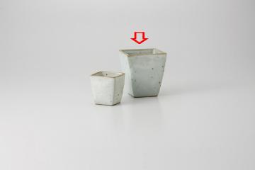 【まとめ買い10個セット品】和食器 粉引角 冷酒 36F272-31 まごころ第36集 【キャンセル/返品不可】