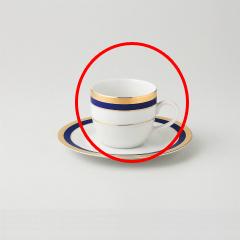 【まとめ買い10個セット品】和食器 ブルーゴールド コーヒー碗 35F455-07 まごころ第35集 【キャンセル/返品不可】
