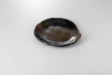 【まとめ買い10個セット品】和食器 黒緑彩 変形9.0皿 36E195-07 まごころ第36集 【キャンセル/返品不可】