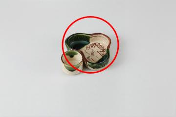 【まとめ買い10個セット品】和食器 織部 松型鉢 36E083-16 まごころ第36集 【キャンセル/返品不可】