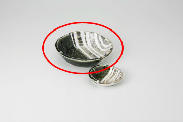 kak-711311 まとめ買い10個セット品 和食器 織部ストライプ 舗 5.0刺身鉢 キャンセル 返品不可 36E022-07 まごころ第36集 人気ブランド