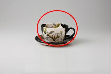 【まとめ買い10個セット品】和食器 黒織部草紋(玉山窯) コーヒーカップ 35K480-06 まごころ第35集 【キャンセル/返品不可】