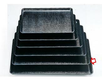 【まとめ買い10個セット品】和食器 耐熱長手かすり盆 黒SL 尺5 35C560-78 まごころ第35集 【キャンセル/返品不可】