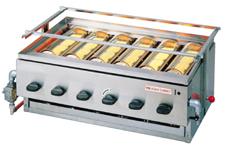 『 焼き物器 グリラー 』アサヒサンレッド 黒潮 6号 SG-21K LPガス【 メーカー直送/代金引換決済不可 】