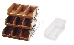 『 カトラリーボックス オーガナイザー 』SAスタンダード オーガナイザー 3段3列[9ヶ入]ホワイト