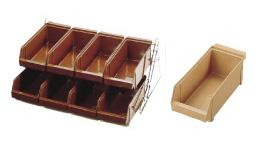 『 カトラリーボックス オーガナイザー 』SAスタンダード オーガナイザー 2段4列[8ヶ入]キャメル