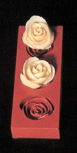 『デコレーション器具 お菓子作り』デコレリーフ ゴム製モルド ローズ 0655