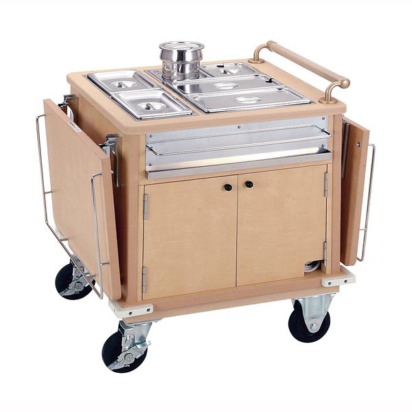 【 ユニットケア用ケータリングワゴン10人対応型 】 【 業務用 【 厨房用品 調理器具 料理道具 小物 作業 】