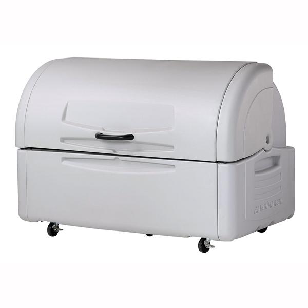 『 ゴミ箱 ゴミステーションボックス 』ジャンボペール PE700キャスター付【 メーカー直送/後払い決済不可 】