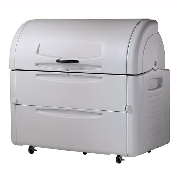 『 ゴミ箱 ゴミステーションボックス 』ジャンボペール PE1000 キャスター付【 メーカー直送/後払い決済不可 】