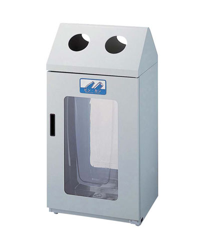 【 ダストボックス 屋外 】 リサイクルボックス[2面窓付き] G-2 【 メーカー直送/代引不可