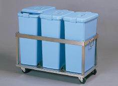 SA18-8ペールステーションカート 60型 【 業務用 【 ペール バケツ ゴミ箱 大型ごみ箱 キッチン 】